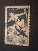 FRANCE TIMBRE POSTE AERIENNE PA16 SG101 PERFORE PERFORES PERFIN PERFINS PERFORATION PERFORIERT LOCHUNG PERFORATI PERCE - Perforadas