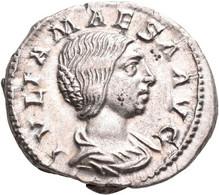 Iulia Maesa, Großmutter Des Elagabal (+ 226 N.Chr.): Denar, Rom. Drapierte Büste Nach Rechts, IVLIA - 5. The Military Crisis (235 AD To 284 AD)