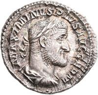 Maximinus I. Thrax (235 - 238): Denar, Rom. Drapierte Büste Mit Lorbeerkranz Nach Rechts, MAXIMINVS - 5. The Military Crisis (235 AD To 284 AD)
