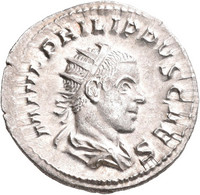 Philippus II. (244 - 247 - 249): Antoninian, Rom, 245-246. Drapierte Büste Rechts, M IVL PHILIPPUS C - 5. The Military Crisis (235 AD To 284 AD)