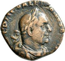 Valerianus I. (253 - 260): Æ Sesterz, 11,49 G. Büste Nach Rechts, Umschrift Nicht Komplett Lesbar / - 5. The Military Crisis (235 AD To 284 AD)