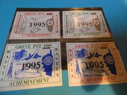 TIMBRE DE GREVE   N BASTIA   AJACCIO  SURCHARGES - Strike Stamps