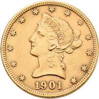 Vereinigte Staaten Von Amerika - Anlagegold: 10 Dollars 1901 (Eagle - Liberty Head Coronet), KM# 102 - Sin Clasificación