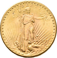 Vereinigte Staaten Von Amerika - Anlagegold: 20 Dollars 1927 (Double Eagle - Saint-Gaudens), KM# 131 - Sin Clasificación