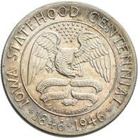 Vereinigte Staaten Von Amerika: ½ Dollar 1946, Iowa Statehood Centennial, KM# 197, Patina, Vorzüglic - Sin Clasificación