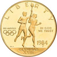 Vereinigte Staaten Von Amerika - Anlagegold: 10 Dollars 1984 (Eagle), Olympische Spiele In Los Angel - Sin Clasificación