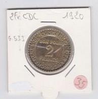 2frs Chambre De Commerce 1920 - H. 1 Franco