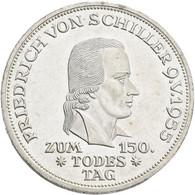 Bundesrepublik Deutschland 1948-2001: 5 DM 1955 F, Friedrich Schiller, Jaeger 389. Wenige Kratzer, F - Unclassified