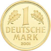 Bundesrepublik Deutschland 1948-2001 - Anlagegold: Goldmark 2001 D (München), Jaeger 481, In Origina - Unclassified