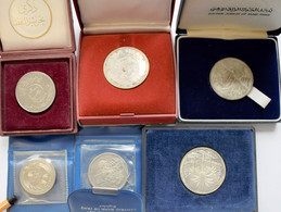 Irak: Lot 6 Münzen, Dabei: 250 Fils 1971 Frieden Mit Den Kurden (KM# 131); 250 Fils 1979 Jahr Des Ki - Iraq