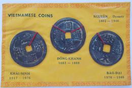 Vietnam: Lot 3 Cash Münzen Der Nguyen Dynasty 1802-1946. Durchmesser Je Ca. 4,8 Cm. Nicht Näher Best - Vietnam