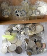 Bundesrepublik Deutschland 1948-2001: Lot Diverser DM Münzen, Dabei Bisschen Kleingeld, 5 DM Und 10 - Unclassified