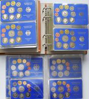 Bundesrepublik Deutschland 1948-2001: Umfangreiche Sammlung Deutscher Kursmünzensätze In Der Höchste - Unclassified