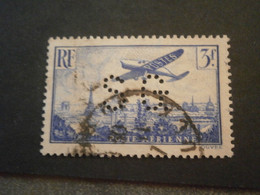 FRANCE TIMBRE POSTE AERIENNE PA12 SG101 PERFORE PERFORES PERFIN PERFINS PERFORATION PERFORIERT LOCHUNG PERFORATI PERCE - Perforadas