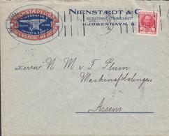 Denmark NIENSTÆDT & Co., Staal-Værktøj-Maskiner KUNSTINDUSTRIMUSEET, KJØBENHAVN B.B.B. 1911 Cover Brief ASSENS (Arr.) - Briefe U. Dokumente