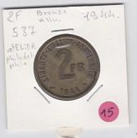 2frs France Libre 1944       Ttb - I. 2 Francs