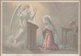 CHROMO  IMAGE RELIGIEUSE  L'ANNONCIATION  25 MARS - Imágenes Religiosas