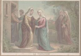 CHROMO  IMAGE RELIGIEUSE  LA VISITATION - Imágenes Religiosas