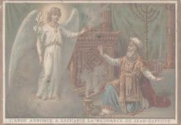 CHROMO  IMAGE RELIGIEUSE  L'ANGE ANNONCE A ZACHARIE LA NAISSANCE DE JEAN-BAPTISTE - Imágenes Religiosas