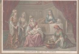CHROMO  IMAGE RELIGIEUSE  NAISSANCE DE LA SAINTE-VIERGE - Imágenes Religiosas