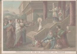 CHROMO  IMAGE RELIGIEUSE  PRESENTATION DE A SAINTE-VIERGE AU TEMPLE - Imágenes Religiosas