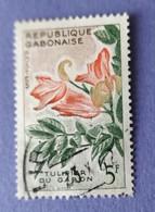 REPUBBLICA CABONAISE  -  VALORE  5 F  -   USATO - Gabon (1960-...)