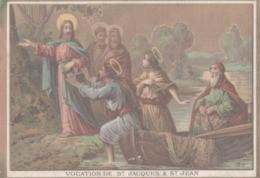CHROMO  IMAGE RELIGIEUSE  VOCATION DE SAINT-JACQUES & SAINT-JEAN - Imágenes Religiosas