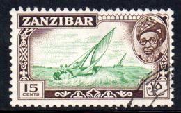 Zanzibar - 1957 15c Dhow (o) # SG 360 - Zanzibar (...-1963)