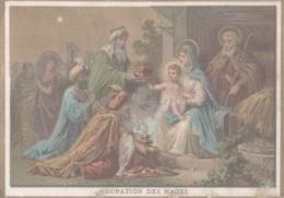 CHROMO  IMAGE RELIGIEUSE  ADORATION DES MAGES - Imágenes Religiosas