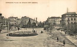 ZARAGOZA  PLAZA DE ARAGÓN VISTA GENERAL     ZARAGOZA ARAGON ESPAÑA ESPAGNE - Zaragoza
