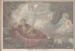 CHROMO  IMAGE RELIGIEUSE  SONGE DE SAINT-JOSEPH - Imágenes Religiosas