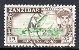 Zanzibar - 1961 15c Dhow (o) # SG 375 - Zanzibar (...-1963)