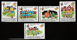 """COMORES - N°332/6 ** (1981) Football """"Espana'82"""" - Comoros"""
