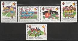 "COMORES - N°373/7 ** (1982) Football ""Espana'82"" Surchargés - Comoros"