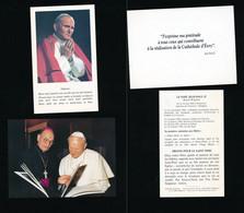 2 Images Religieuses Pieuses -- Pape- Jean Paul 2 II Papa Giovanni Paolo 2 -II. - Imágenes Religiosas