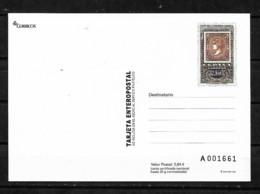 &S11& ESPAÑA TARJETA ENTERO POSTAL EDIFIL 104, 150 ANIVERSARIO DEL SELLO DENTADO. - 1931-....