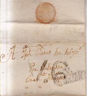 Prefilatelia 1799 Envuelta A San Felipe  Marcas Nº6 Vich V.Principado De Cataluña Porteo V6 - ...-1850 Vorphilatelie