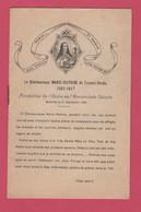 """LA BIENHEUREUSE MARIE-VICTOIRE De Fernari-strata""""image Pieuse 1929""""petit Livret De 8 Pages""""Litanie - Imágenes Religiosas"""