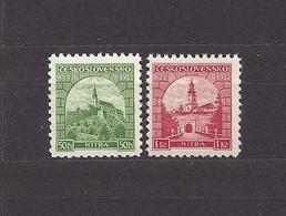 Czechoslovakia 1933 MNH ** Mi 319-320 Sc 192-193 First Christian Church At Nitra. Tschechoslowakei C7 - Unused Stamps