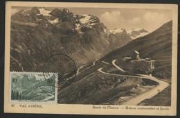 FRANCE N° 358 90 Ct COL DE L'ISERAN Sur Carte Maximum En 1951 (voir Description) - 1930-39