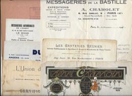 1923 1925 1940 CHAUFFEUR D AUTOMOBILE ROGER CASSINA - LOT DE 7 DOCUMENTS CONCERNANT SON EMPLOI - Cars