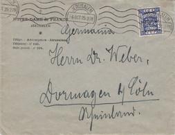 PALESTINE - LETTER 1925 JERUSALEM > DORMAGEN/DE /Q217 - Palestine