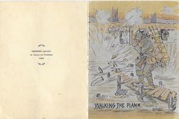 Voeux - Almanach 1918 - Calendrier - Dédicace  Walking The Plank Marche Sur La Passerelle 1917 -illustrateur G V Bressit - Neujahr
