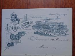 FACTURE - 51 - DEPARTEMENT DE LA MARNE - FERE-CHAMPENOISE 1902 - LA CHAMPENOISE, GRANDE BRASSERIE - Non Classificati