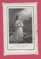 """LES PLAINTES DE L'AME Exilée""""image Pieuse Dentelle""""chaîne""""mer""""colombe""""croix""""Seigneur Mon âme Se Consume Et Se Meurt..... - Imágenes Religiosas"""