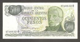 Argentina - Banconota Non Circolata AUNC Da 500 Pesos P-303c - 1982 #19 - Argentina