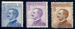 1908 MICHETTI N.83-85 NUOVI* LEGGERA TRACCIA DI LIBGUELLA SPLENDIDI -  MLH EXTRAFINE - Nuovi
