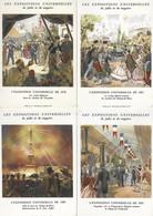 6 Cartes EXPOSITIONS UNIVERSELLES -exposition Universelle 1855 1867 1878 1889 1900 1931 - Publicité -Loubet Napoléon III - Esposizioni