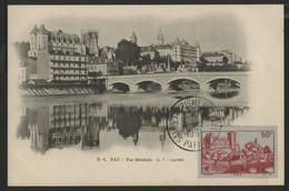 FRANCE N° 449 90 Ct PAU Sur Carte Maximum En 1951 (voir Description) - 1930-39
