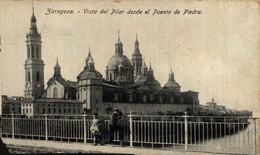 ZARAGOZA VISTA DEL PILAR DESDE EL PUENTE DE PIEDRA     ZARAGOZA ARAGON ESPAÑA ESPAGNE - Zaragoza